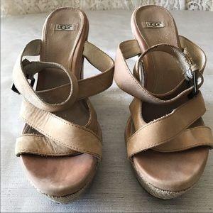 Super sexy Ugg Australia platform sandals, size 8